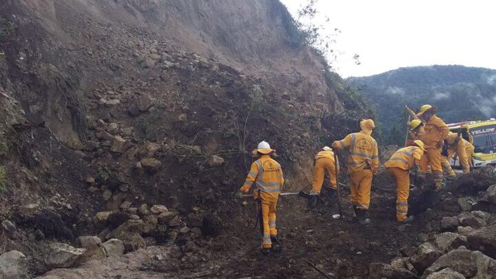 ¿ Cuáles son los derrumbes que presenta la vía Curos Málaga?