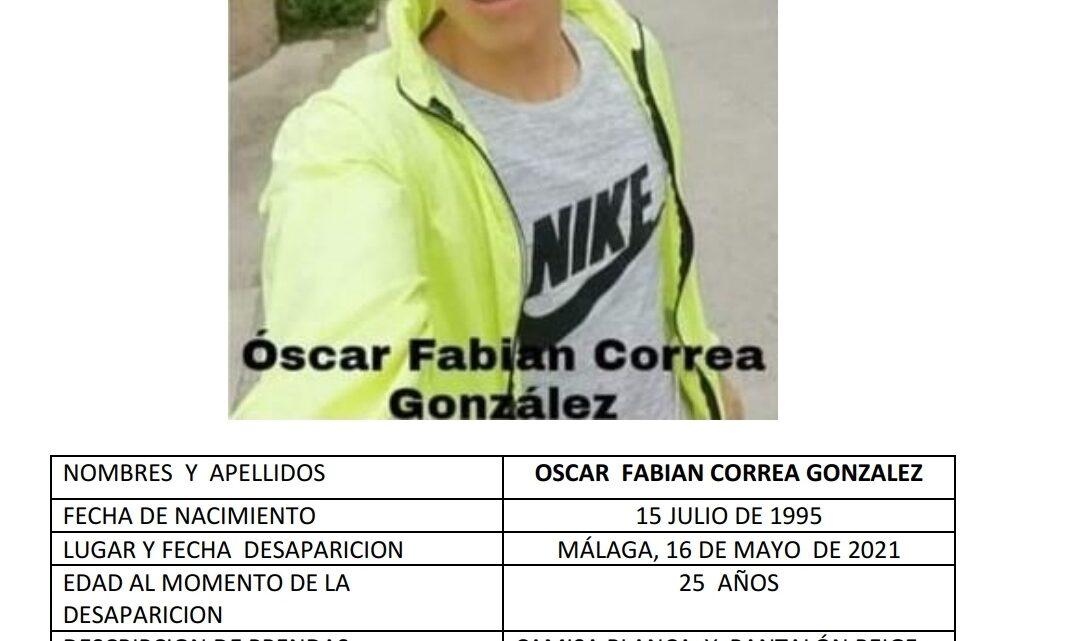 Los 3 datos que usted no sabe sobre la desaparición del joven Oscar Correa