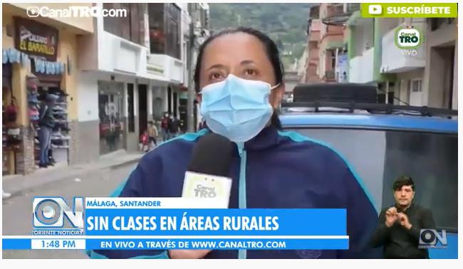Estudiantes del campo en García Rovira exigen que se les respete el derecho a la educación