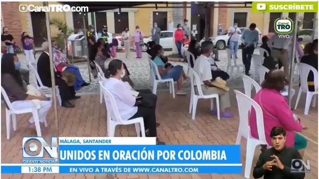 Iglesias de Málaga se unen en oración por la paz de Colombia