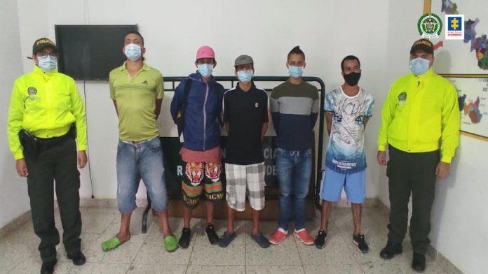 ¿En qué municipio de Santander operaba esta banda dedicada al tráfico de estupefacientes?