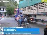 Vía tiene en riesgo a los habitantes de Peñacolorada Enciso